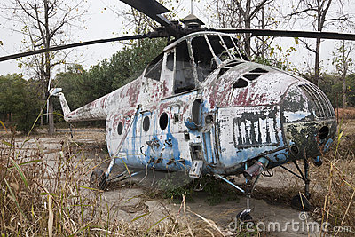 Old Soviet military chopper