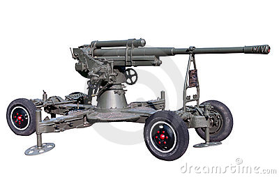 Old soviet or red army anti-aircraft cannon