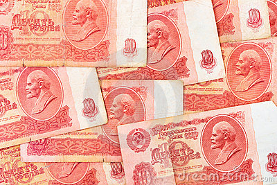 Old soviet russian money background