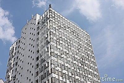 Old soviet style skyscraper