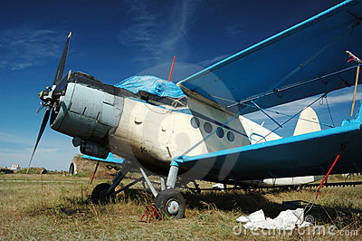 Old soviet transport biplane An-2