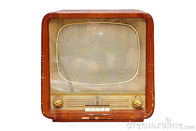 Old soviet tv set