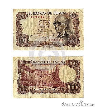 Old spanish bill