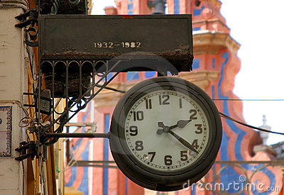 Old spanish clock