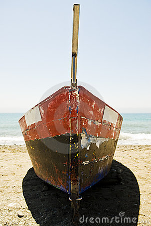 Old spanish fishing boat