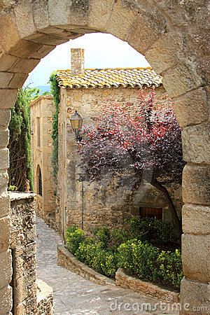 Old spanish medieval village, named Pals