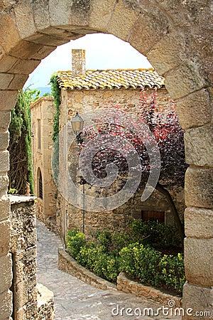 Old spanish medieval village, named Pals