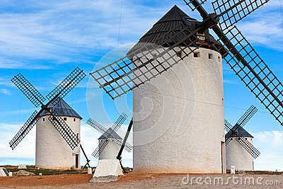 Old Spanish windmills