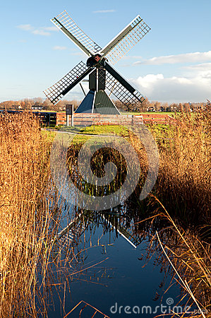 Old spider head mill in the Netherlands