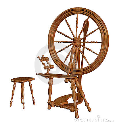 Free Old Spinning Wheel Royalty Free Stock Photography - 15417487