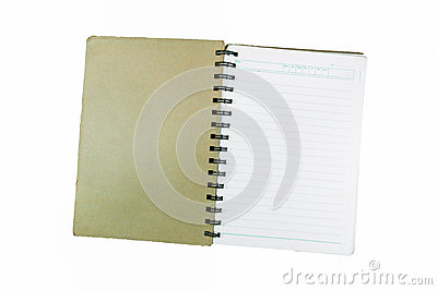 Old spiral notebook