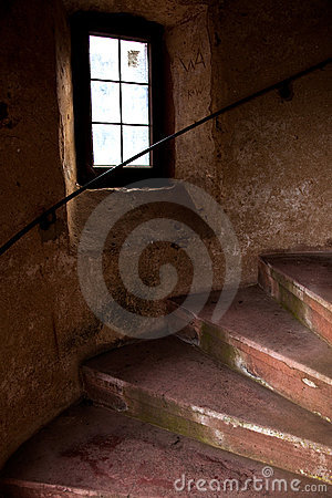 Old Spiral Stairways in Castle
