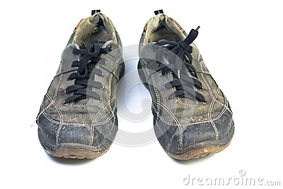 Old sports shoes.