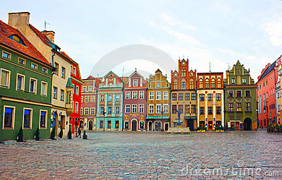 Old square of Poznan, Poland