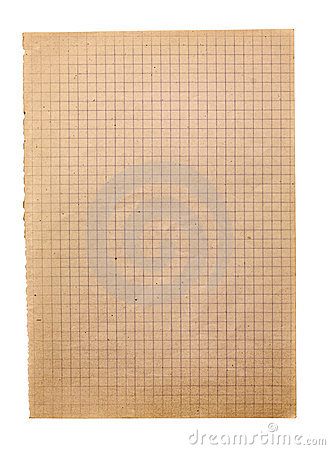Free Old Squared Paper Stock Photography - 17271152