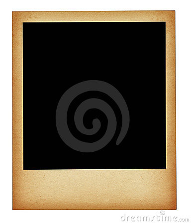 Free Old Stained Photo Frame Isolated Royalty Free Stock Image - 3778356