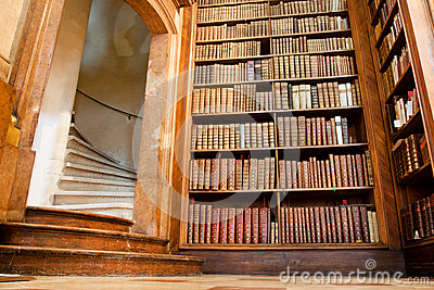 Old staircase and the books in the old Library