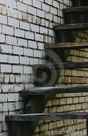 Old Staircase and Wall