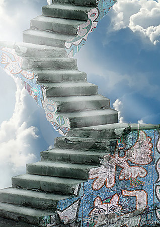 Old stairs to the sky