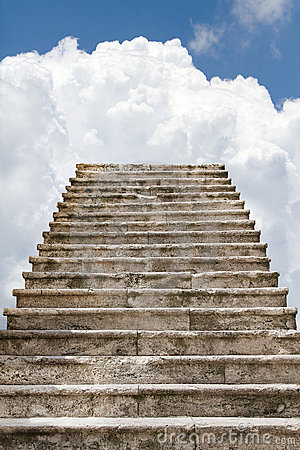Free Old Stairway To The Clouds Royalty Free Stock Photography - 15804347