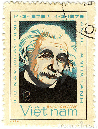 Old stamp with Albert Einstein Editorial Photo