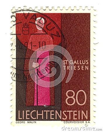 Old stamp from Liechtenstein