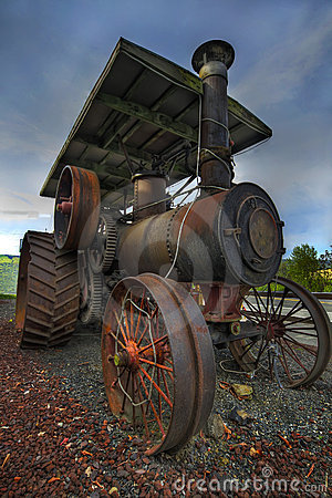 Old Steam Farm Tractor