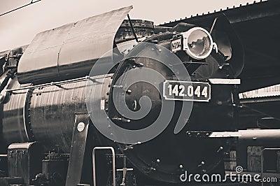 Old steam locomotive light