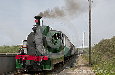 Old steam train in Holland