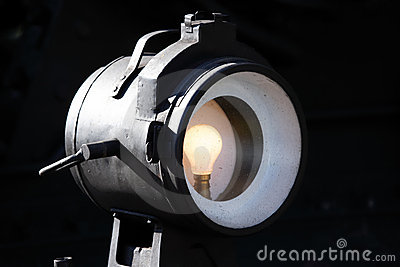 Old steam train light