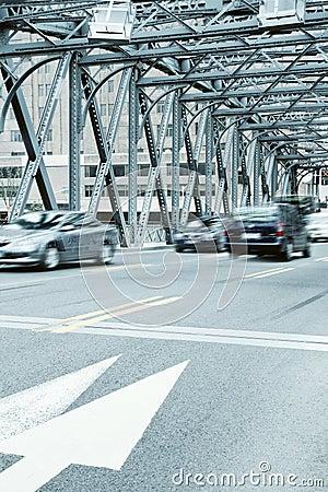 Old steel bridge in shanghai