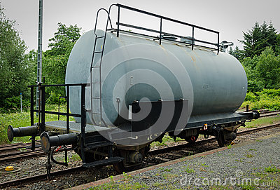 Old steel tank car