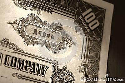 Old Stock Market Shares Vintage Certificate