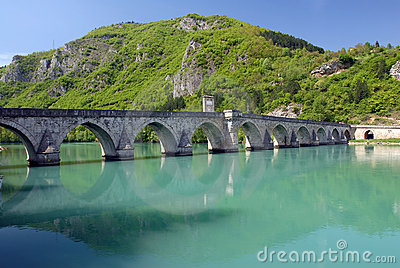 Old stone bridge in Visegrad