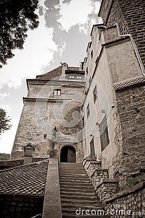 Old stone castle entrance