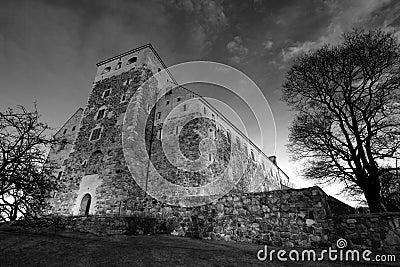 Old stone castle in Turku