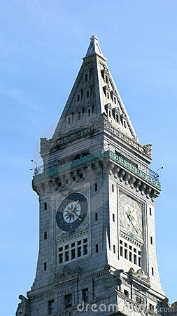 Old stone clock tower