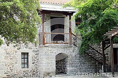 Old stone house entrance