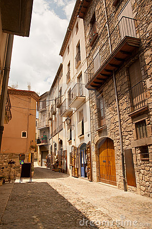 Old stone houses in Besalu Catalunya Spain