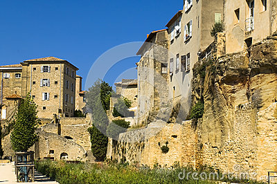 Small town, region of Luberon, France