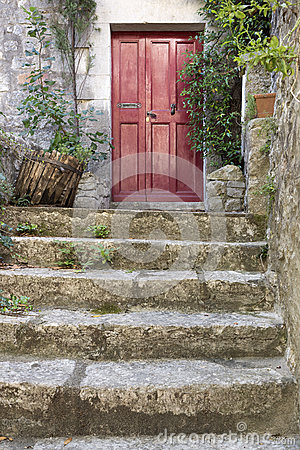 Free Old Stone Stairs With Entrance Door Stock Images - 59514064