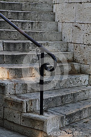Old stone stairways in Greece