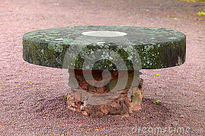 Old stone table