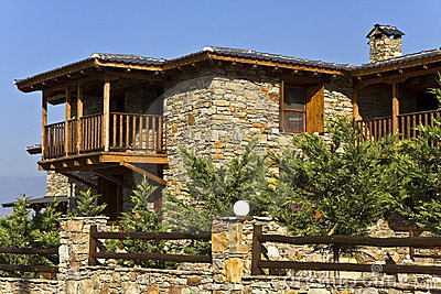 Old stone traditional countryside house