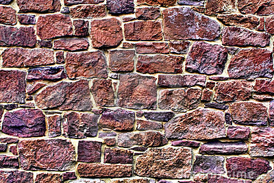 Old Stone Wall on Historic Home