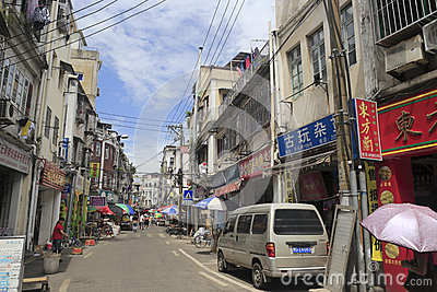 Old street in amoy city Editorial Stock Image