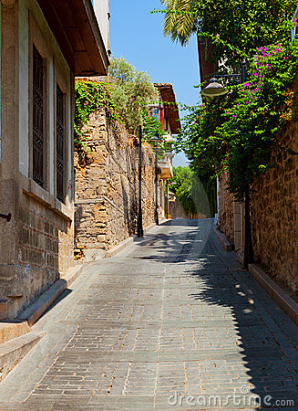 Old street in Antalya, Turkey