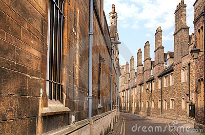 Old Street In Cambridge City Royalty Free Stock Images - Image: 20689789