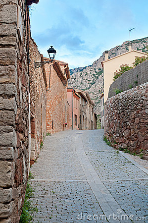Old street, Collbato, Spain