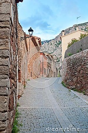 Old street, Collbato, Spain